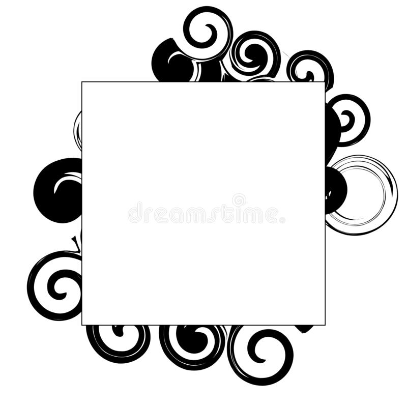 Black and white background for royalty free illustration