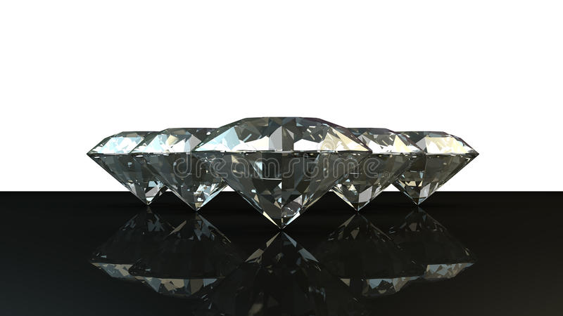 Black and white background of glittery diamonds royalty free stock photography