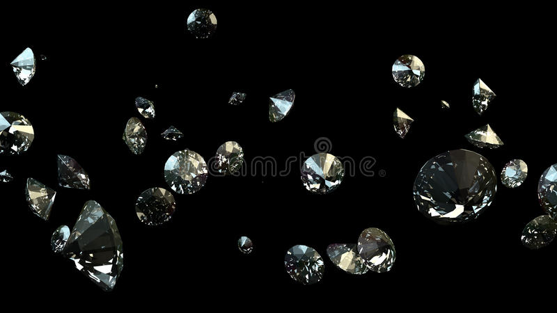 Black and white background of glittery diamonds royalty free stock image