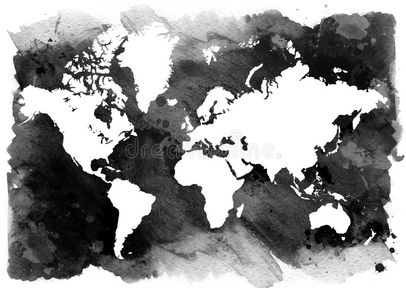 Black and white background horizontal vintage map of the world download black and white background horizontal vintage map of the world stock illustration gumiabroncs Images
