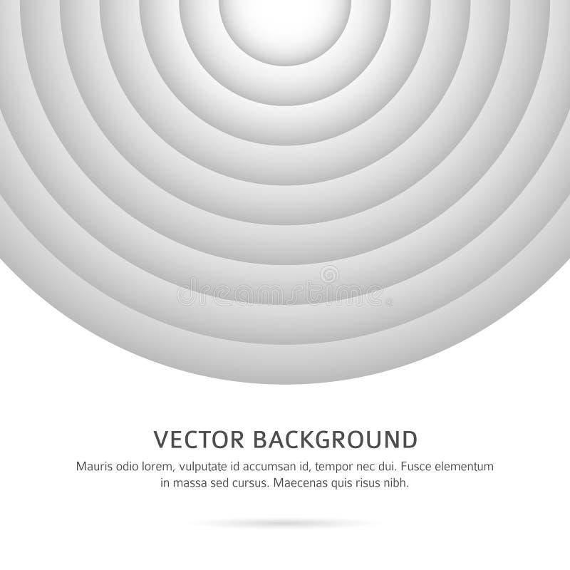 Black-white-background-radial-circles-cover-brochure vector illustration