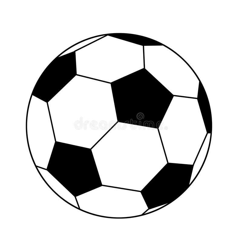 Download Black and white - ball stock illustration. Illustration of kick - 13889877