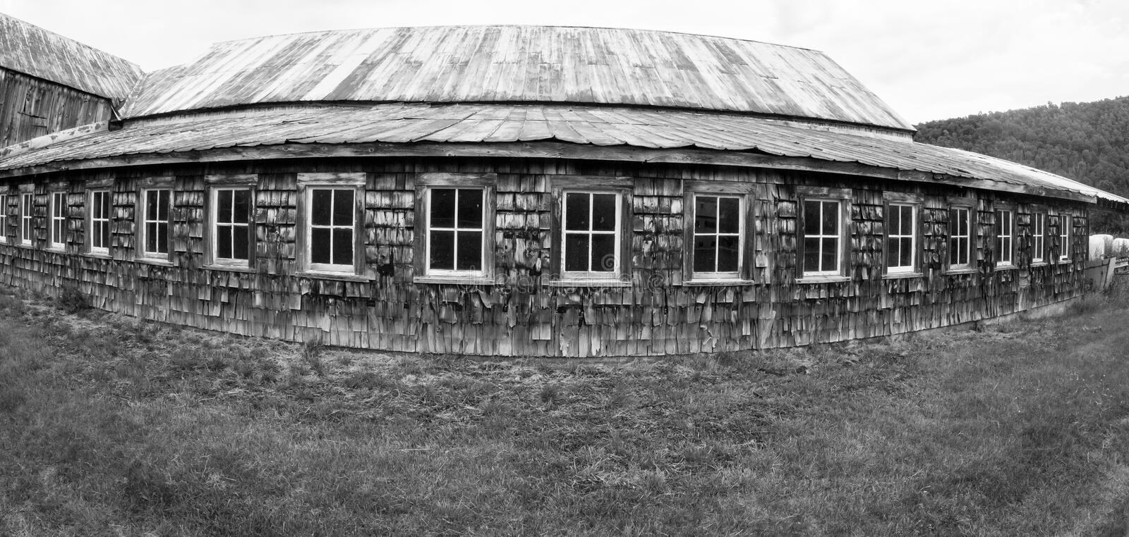 Black and White Barn royalty free stock image