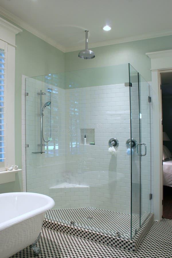 Black and white bathroom royalty free stock photo
