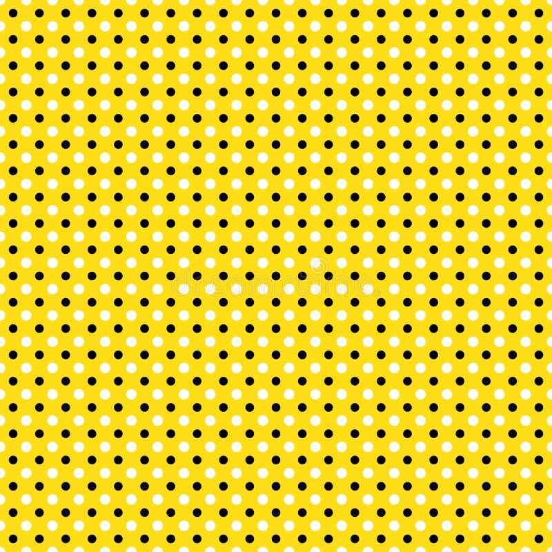 Black & White Beautiful Seamless polka dots for pattern background, wallpaper, texture, web, blog, print or graphic design. Black & white beautiful Seamless stock illustration