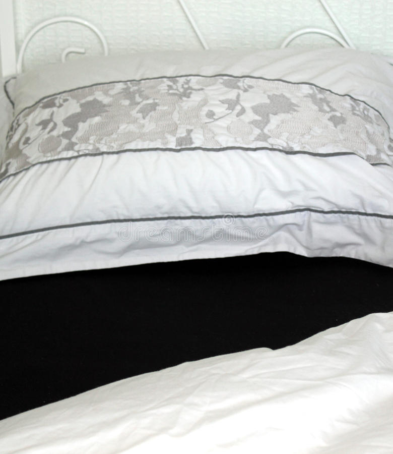 Download Black And White Bed Linen stock image. Image of business - 23443325