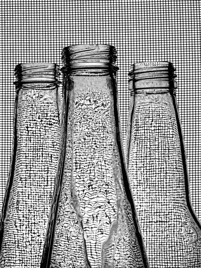Black & White Beer Bottle Background royalty free stock photos
