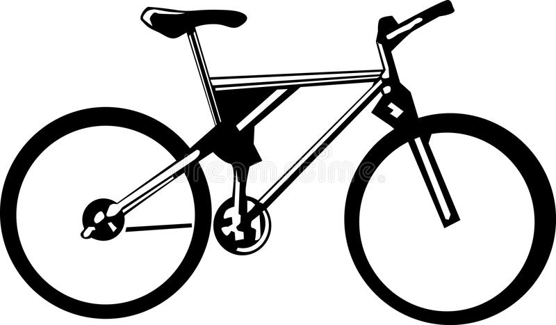 Black and white bicycle stock illustration