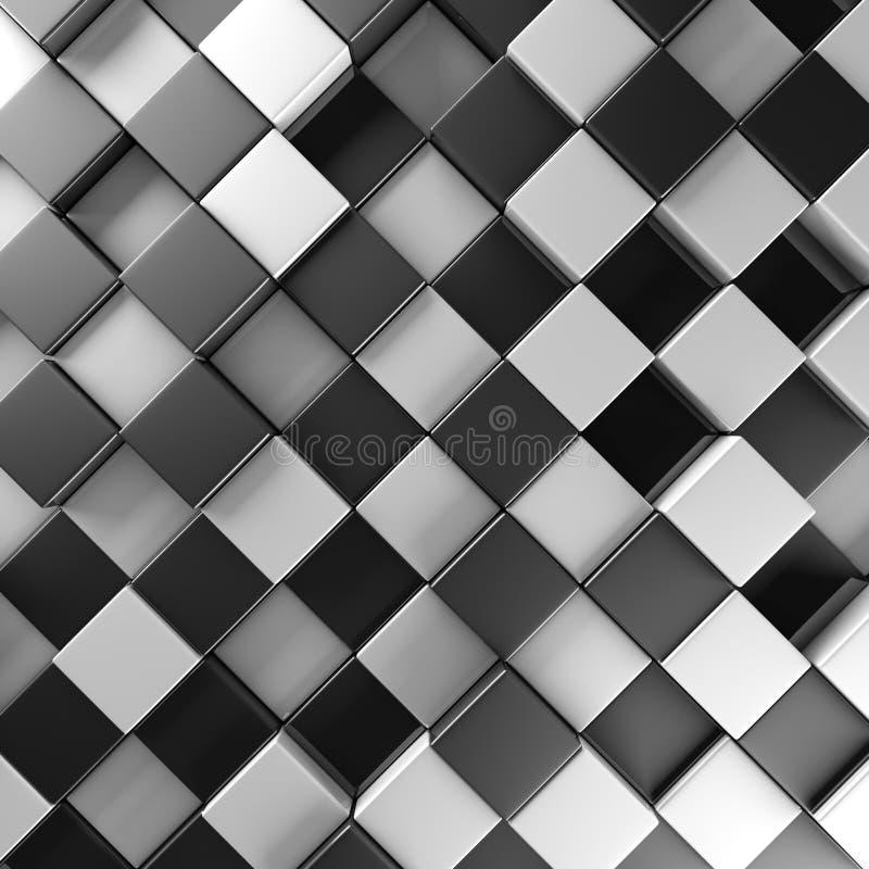 Black and white blocks royalty free illustration