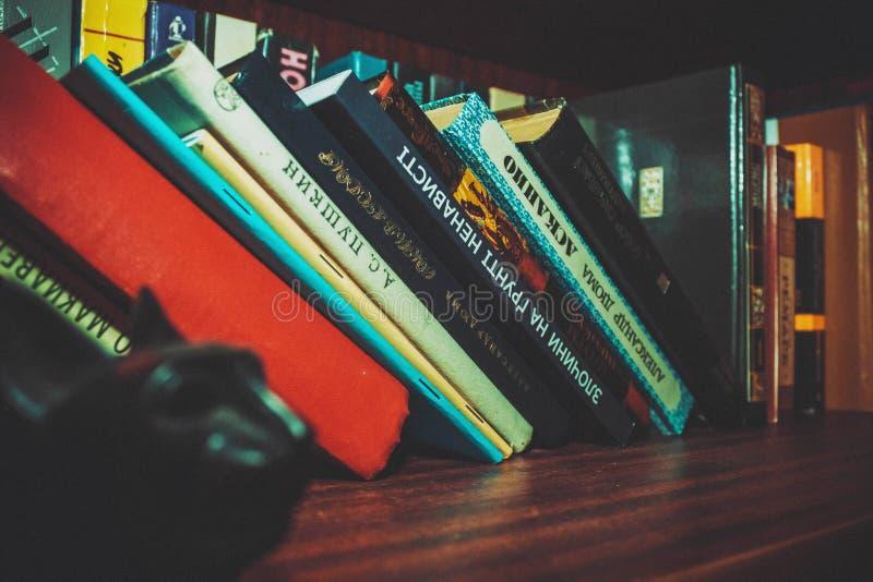 Black White Book Set In Brown Wooden Book Shelf Free Public Domain Cc0 Image