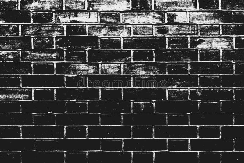Black and white brick wall pattern as background. Texture of bricks with treshold effects as design element stock image