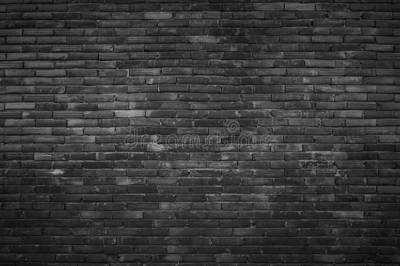 Black and white brick wall texture background / have me to floo royalty free stock image