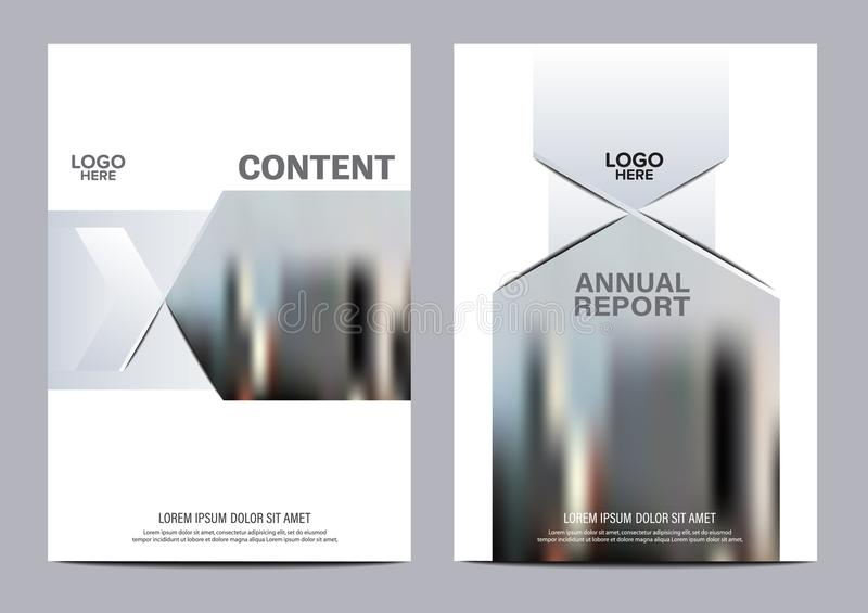 Black and white Brochure Layout design template. Annual Report Flyer Leaflet cover Presentation Modern background. Illustration vector in A4 size royalty free illustration