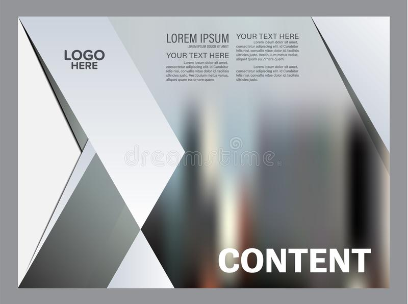 Black and white Brochure Layout design template. Annual Report Flyer Leaflet cover Presentation Modern background. Illustration in A4 size royalty free illustration