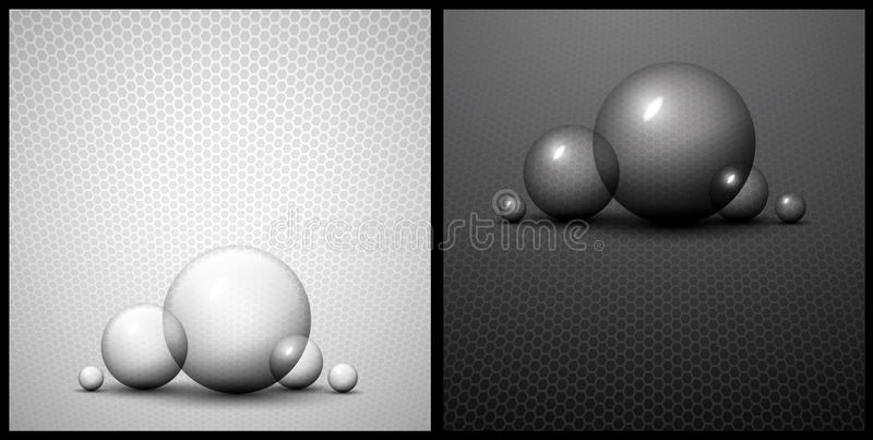 Download Black And White Bubble Abstract Background Royalty Free Stock Photography - Image: 22220327