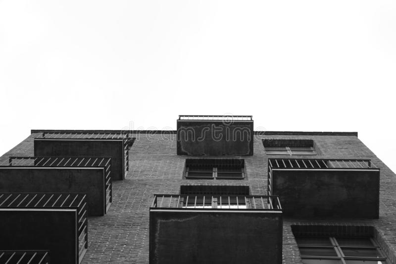 Black and white building royalty free stock photo