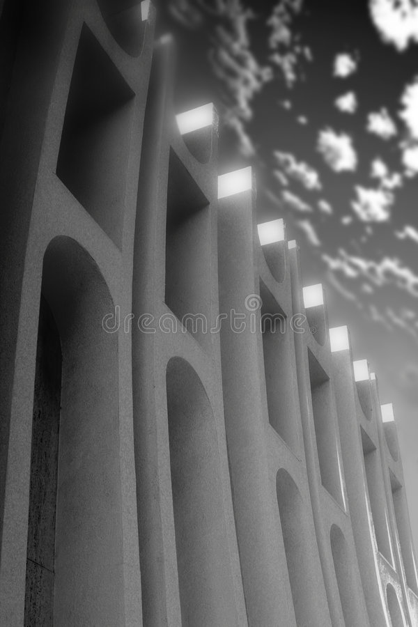 Black and white building stock photography