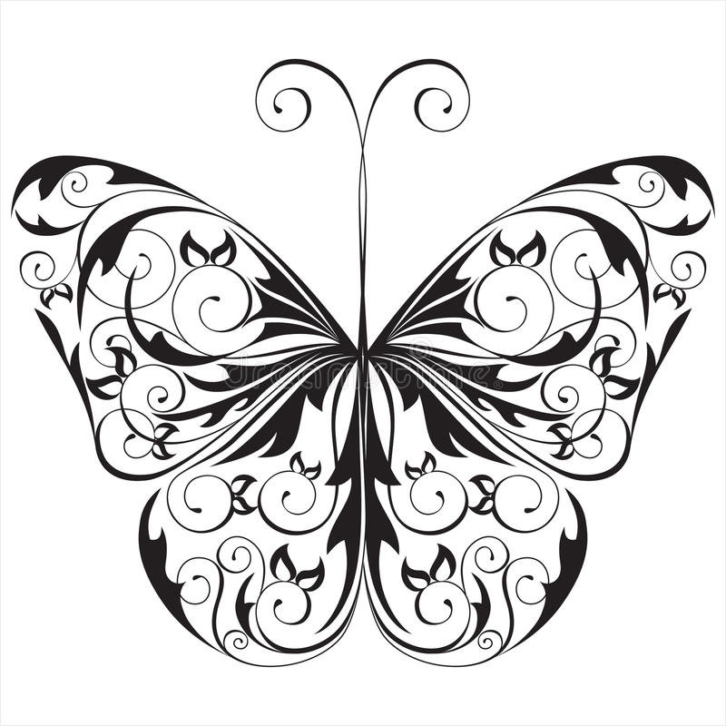 Download Black And White Butterfly Royalty Free Stock Photography - Image: 18363817