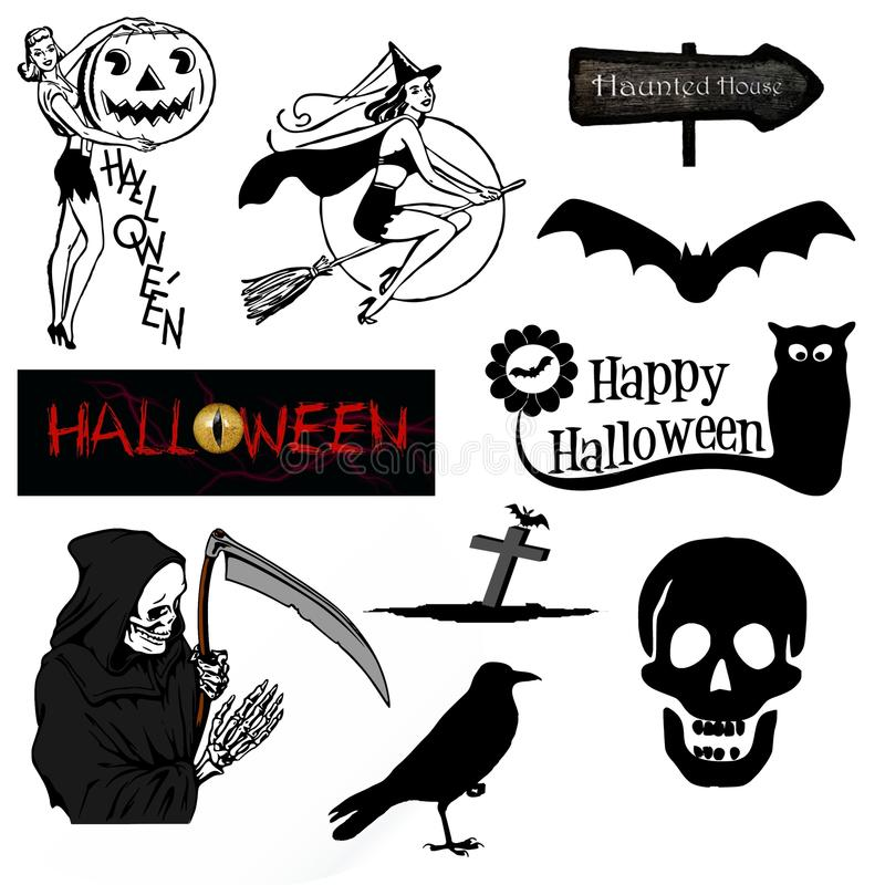 Black And White, Cartoon, Font, Illustration stock image
