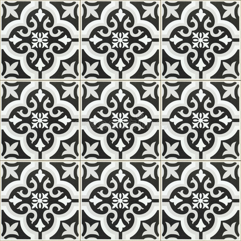 Black And White Ceramic Tile Texture For Background And