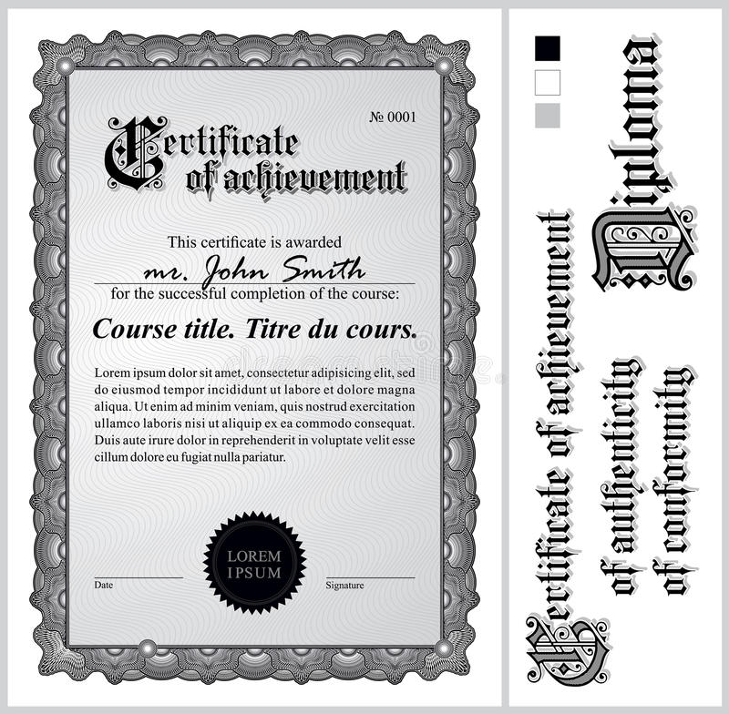 Black and white certificate template vertical stock vector download black and white certificate template vertical stock vector illustration of bill yadclub Choice Image