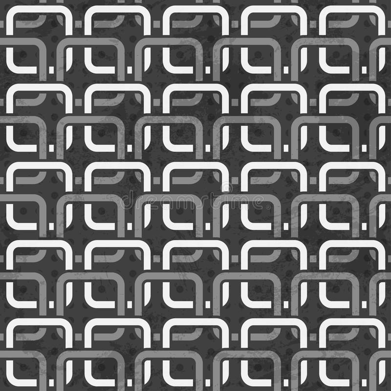 Black and white chains seamless pattern vector illustration
