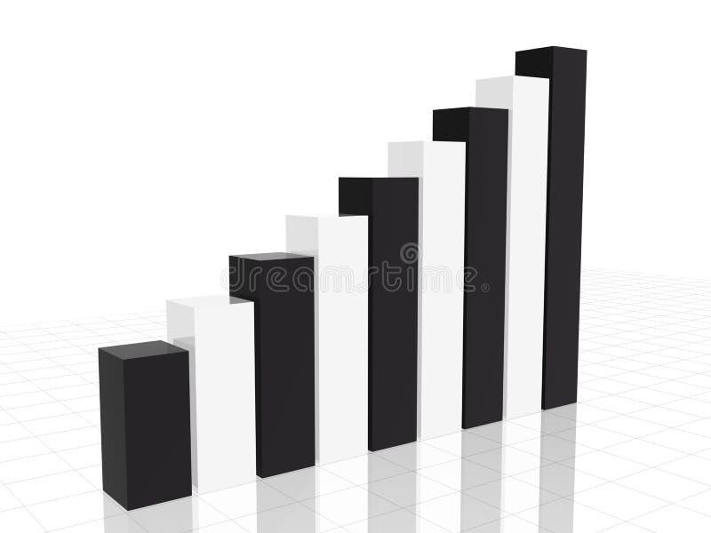 Black&white chart vector illustration