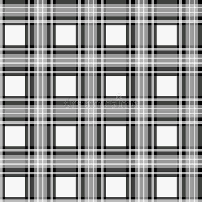 Black white check pixel square fabric texture seamless pattern royalty free illustration