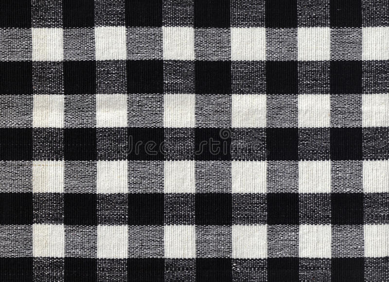 Black and white checked fabric background royalty free stock photos