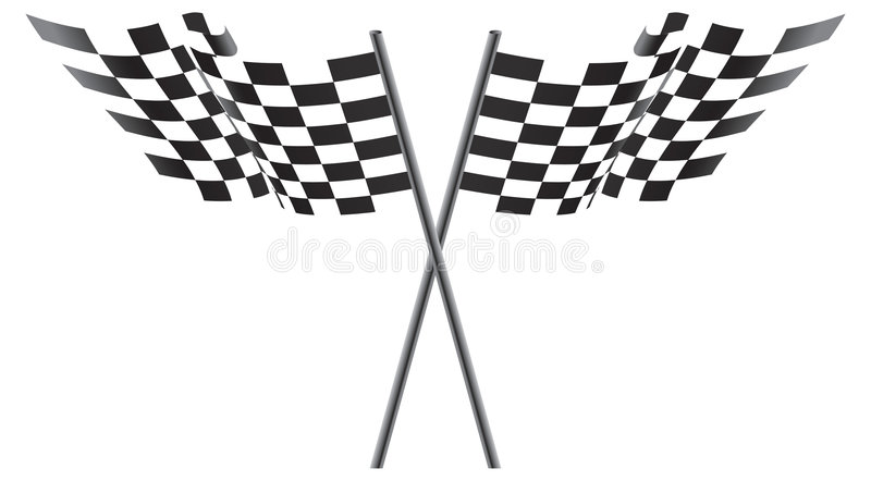 Download Black And White Checkered Flags Illustration Stock Vector - Image: 5889867