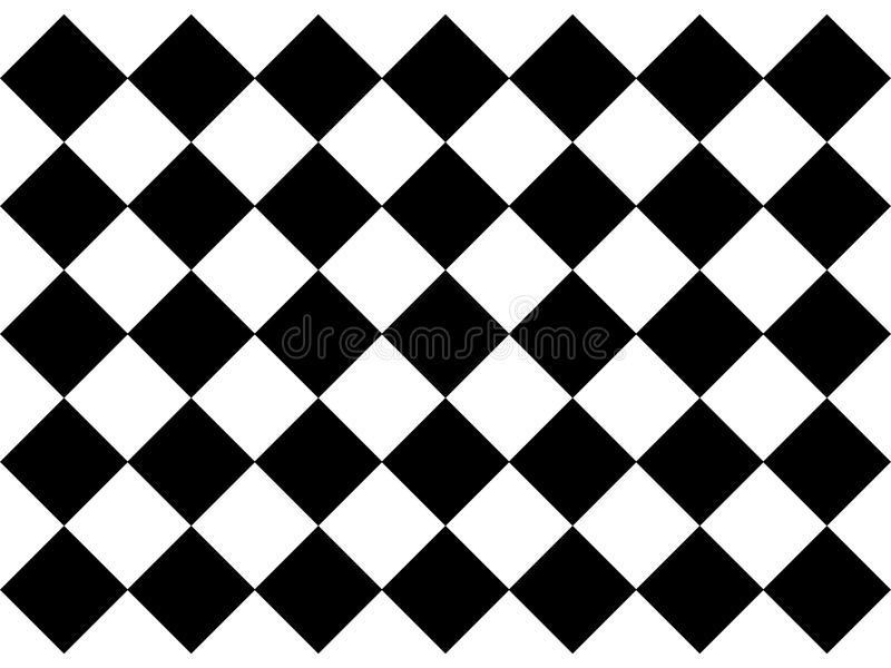Black and white checkered floor tiles. For different designer`s needs. Texture royalty free illustration