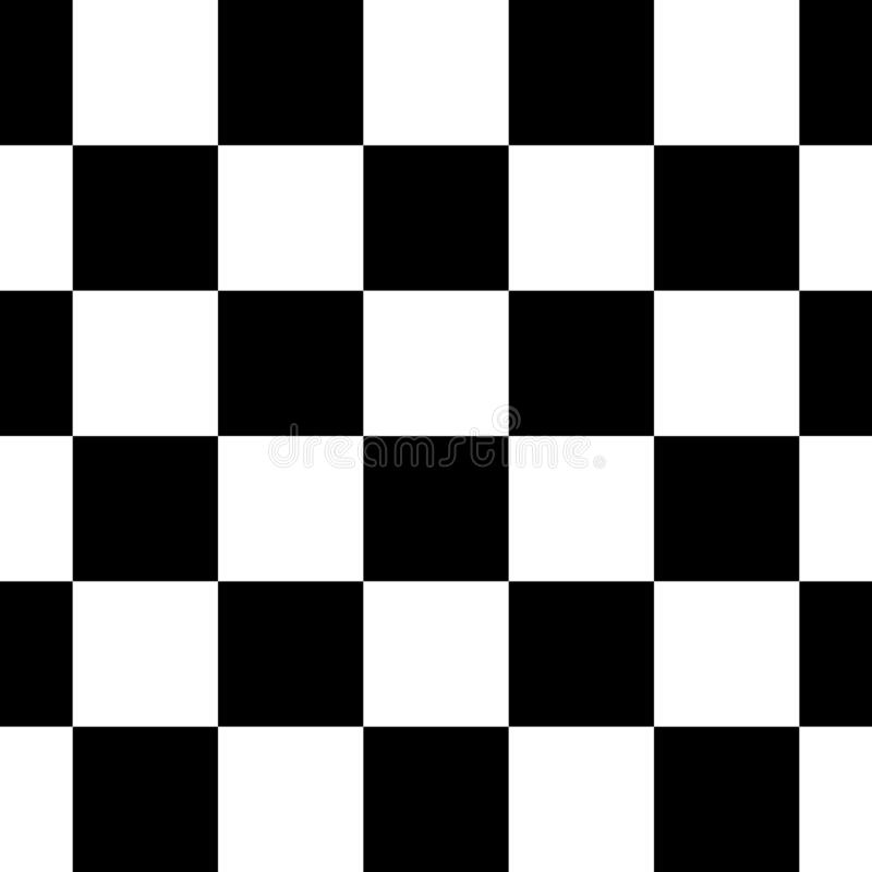 Black and White Checkered Seamless Repeating Pattern Background Vector Illustration stock image