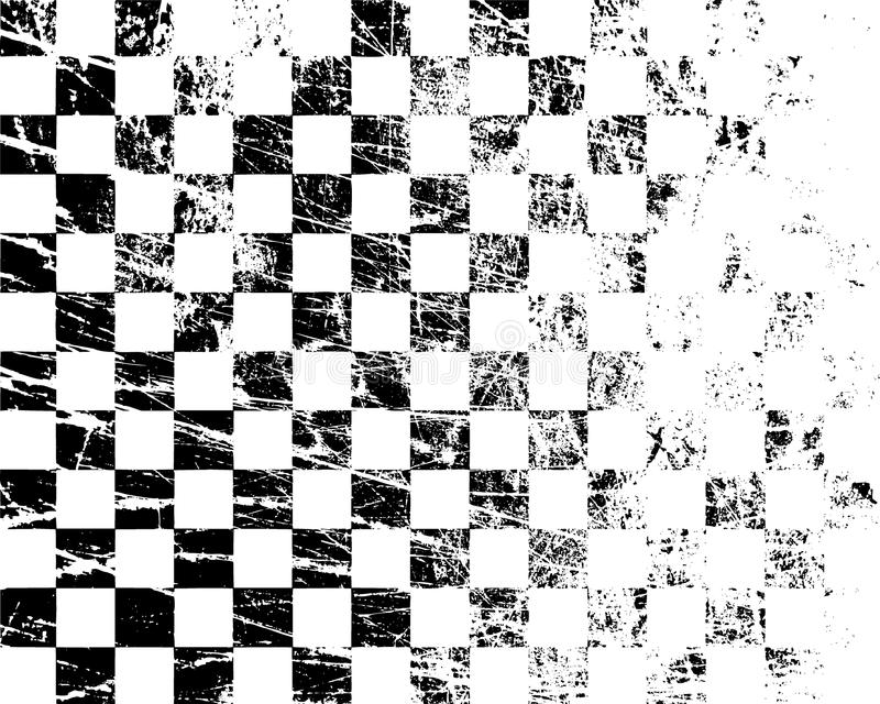 Black White Checkered Texture. Scratched Grunge Old Template. Old ...