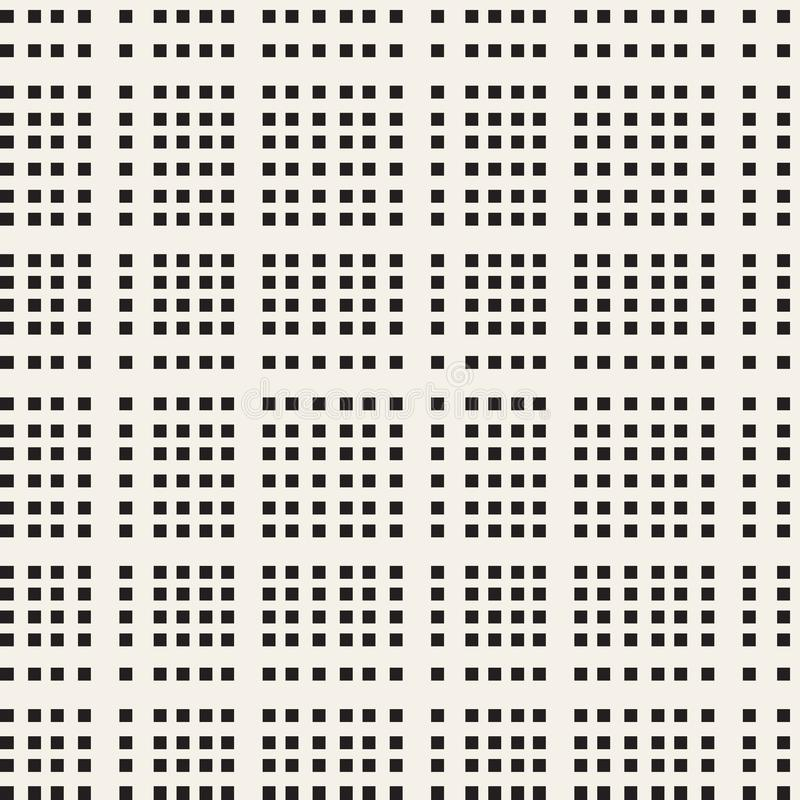 Black and white checkered vector seamless pattern stock illustration
