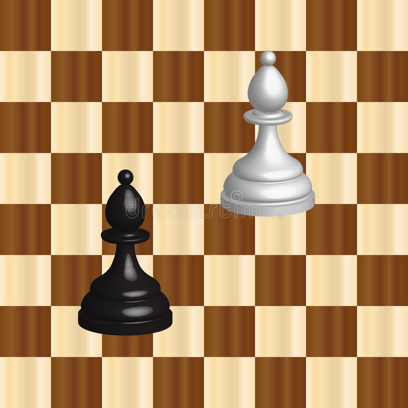 Black and white chess royalty free illustration