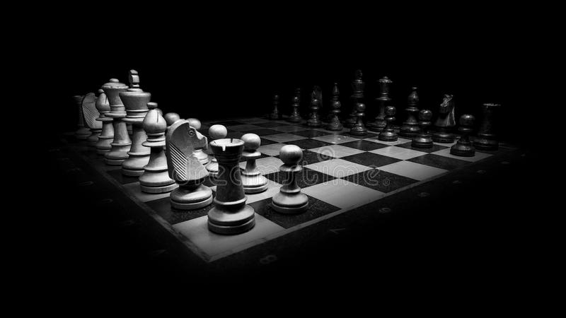 Black And White, Chess, Board Game, Chessboard royalty free stock photography
