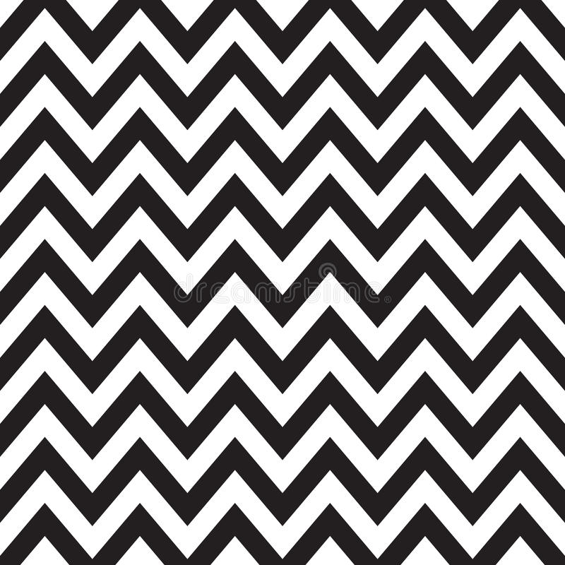 Black and White Chevron vector illustration