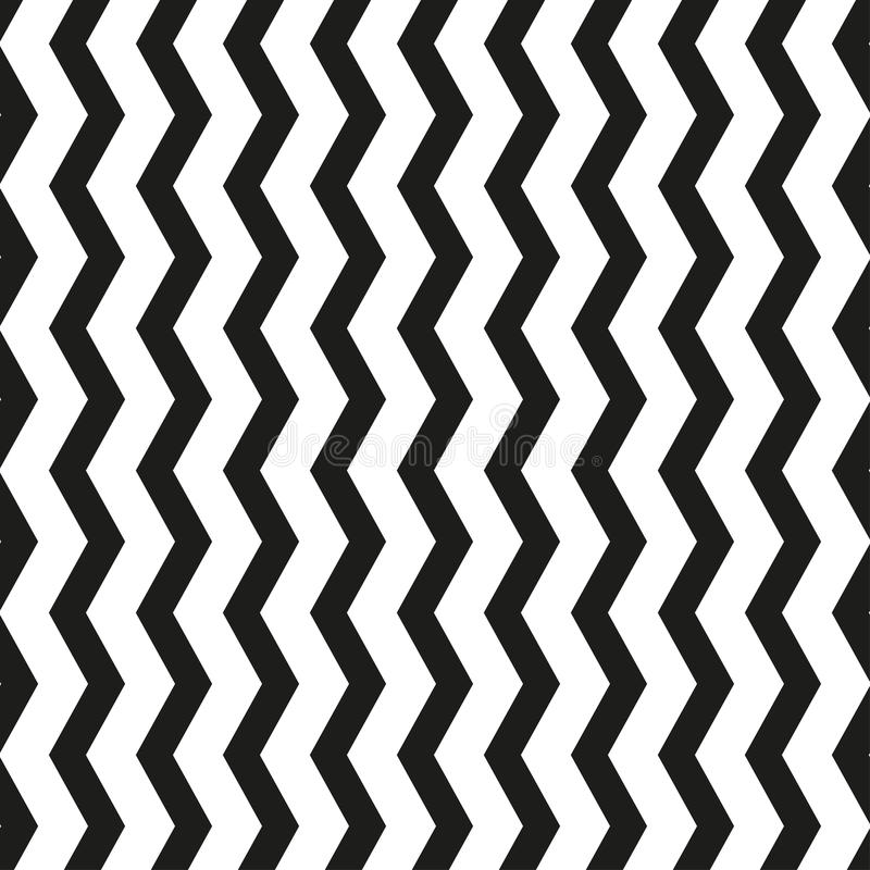 Black and white chevron zigzag seamless geometric pattern. Vector illustration stock illustration