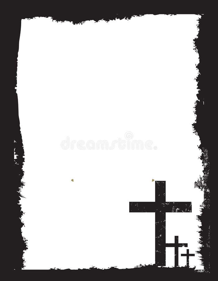 Black And White Christian Crucifix Background Stock Vector