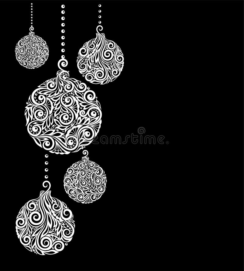 Black and white christmas background with christmas balls hanging download black and white christmas background with christmas balls hanging great for greeting cards stock m4hsunfo