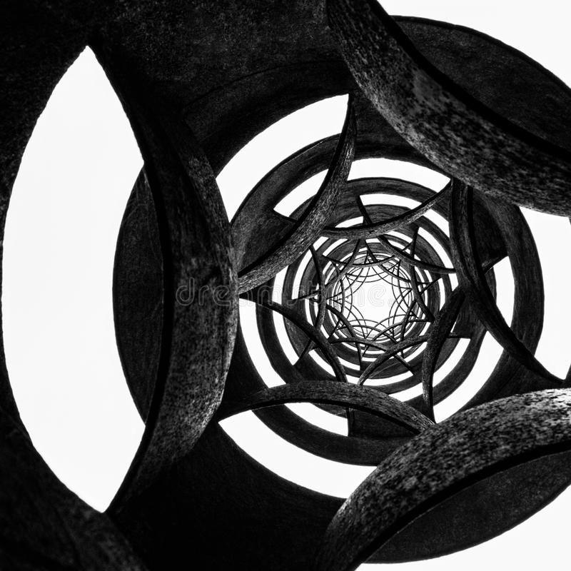 Black and white circular background royalty free stock image
