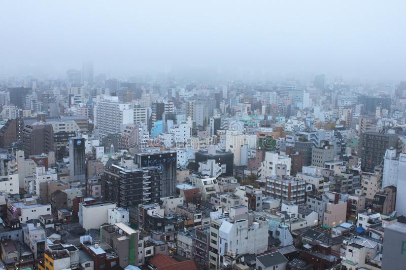 Black And White City Buildings Under White Foggy Sky During Daytime Free Public Domain Cc0 Image