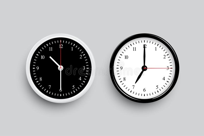 Black And White Classic Clock Faces Vector Black And White Clock