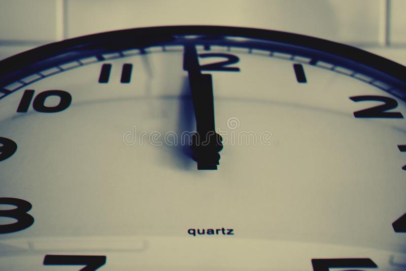Black-and-white, Clock, Close, -up, royalty free stock image