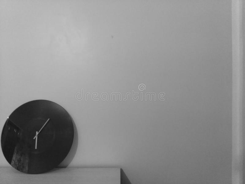 black and white clock royalty free stock photos