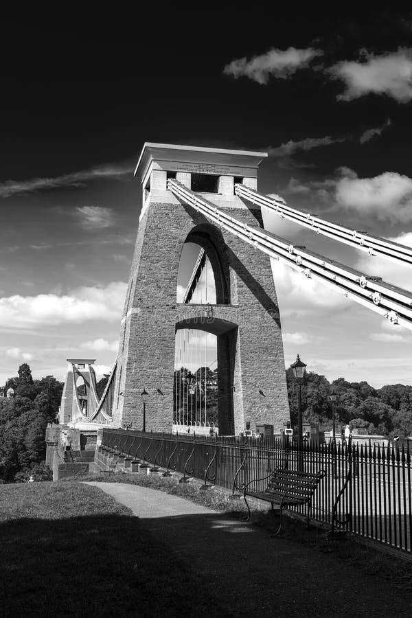 Download black and white closeup of detail of clifton suspension bridge bristol avon