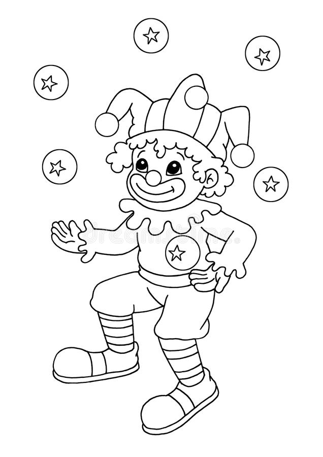 Black and white - clown stock image