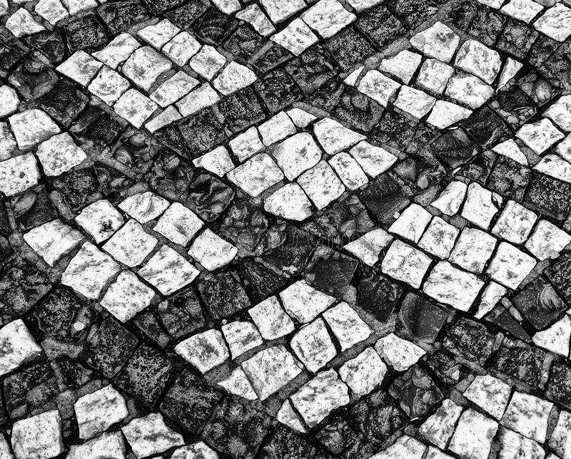 Black And White Cobblestone Street Image Stock Image ...
