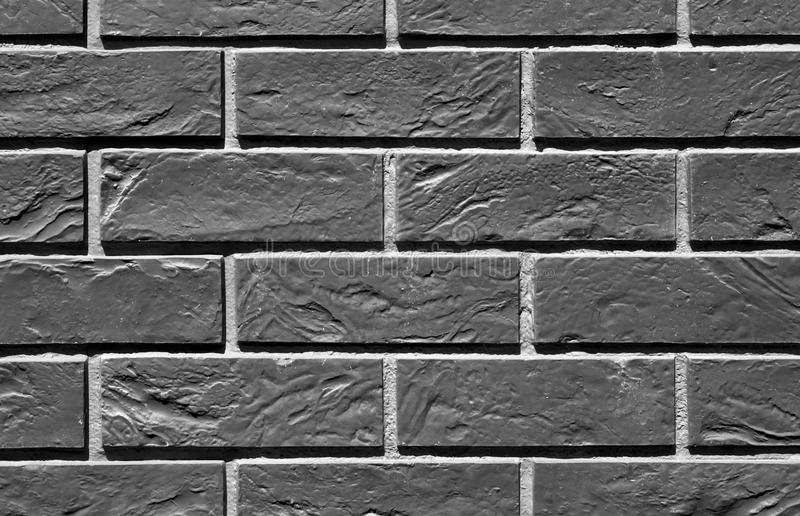 Black and white color brick wall pattern. royalty free stock photo