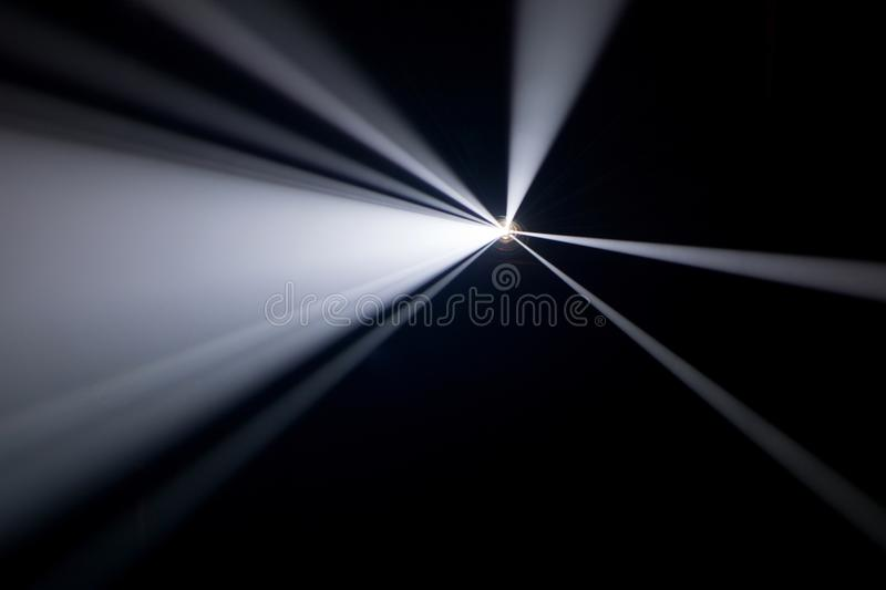 Black and white color . projector beautiful spotlight . wide lens equipment for show presentation at night . smoke abstract royalty free stock photos